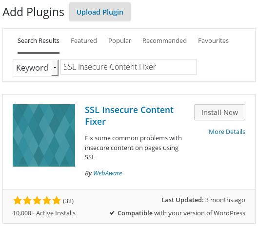 Automatic installation in the WordPress admin